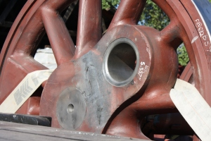 One of the driving wheels, sans crankpin.