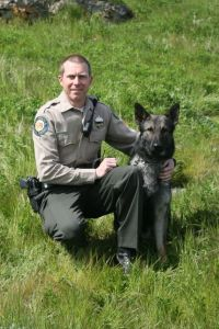State Parks Canine Thor and Mike Gleckler