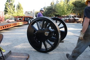 First set of driving wheels, ready to load.