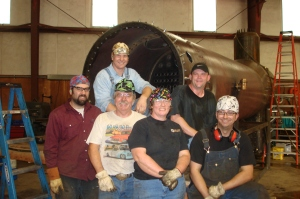 Chelatchie Boiler Works Team posing with the finished boiler!