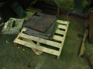 "5/8"" steel plate for furnace bearers."
