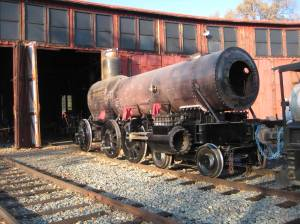 The #3 is pushed back into the roundhouse.