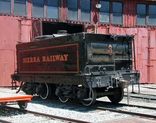 Sierra #3 Tender in 2004, prior to restoration