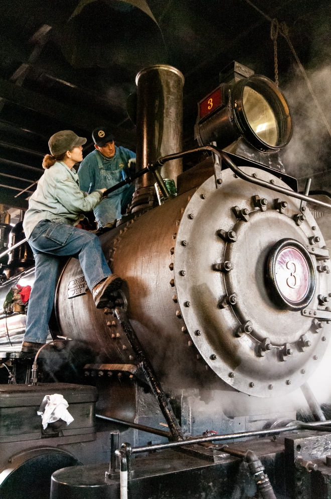 Sierra No. 3 in the roundhouse- Michael Sharps photo