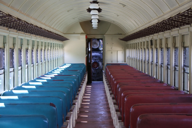 An empty passenger car, No. 12