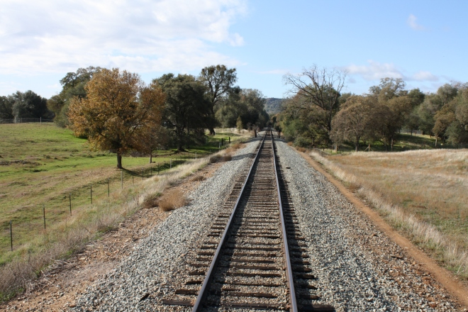 Railtown's excursion trains travel through the scenic Sierra Nevada foothills