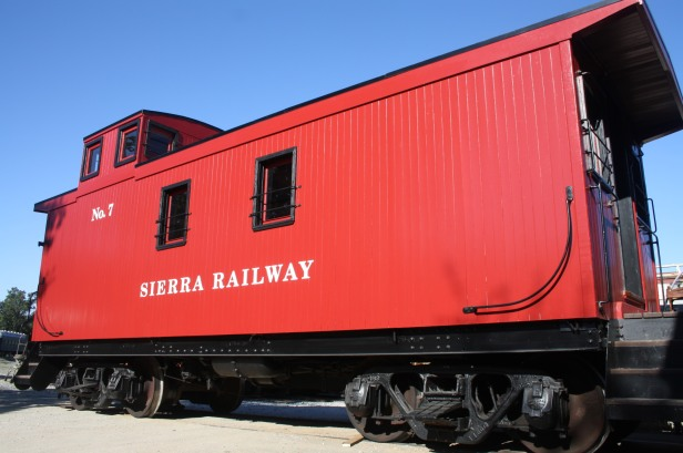 Red wooden caboose