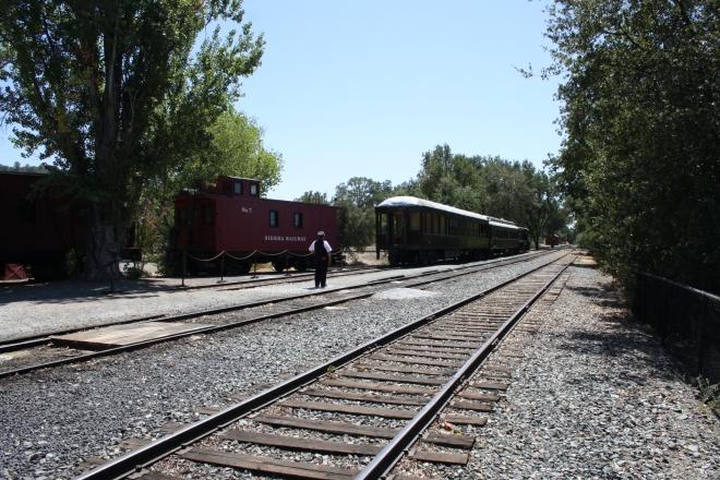 Tracks near the depot