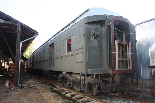 Steel Baggage Car