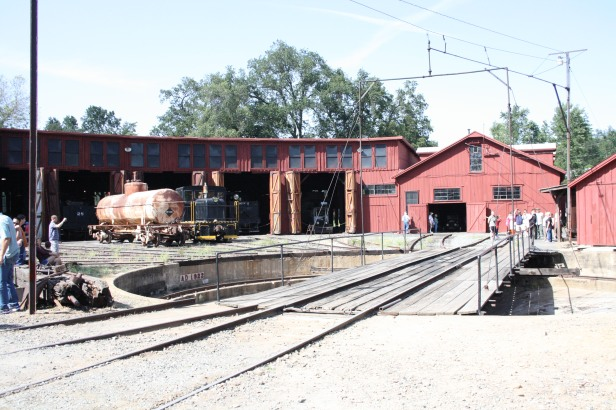 View of the turntable and Roundhouse