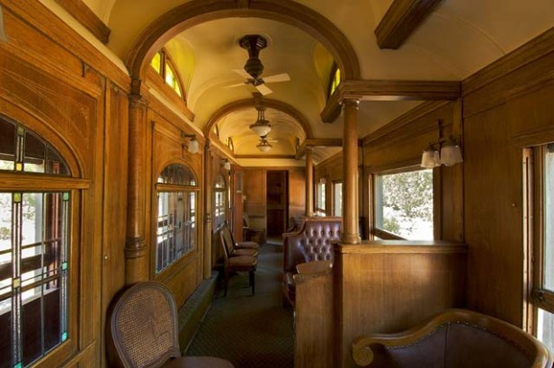 Interior Parlor of Observation Car