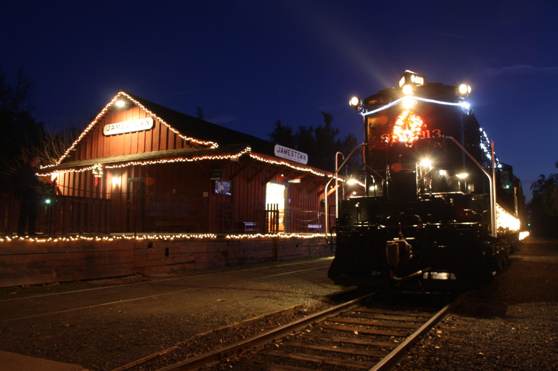 Lighted Christmas Train