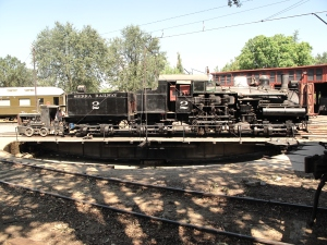 No. 2 Shay on the turntable