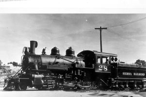 The Sierra No. 28 was one of only six steam locomotives retained by the Sierra Railway in 1946.