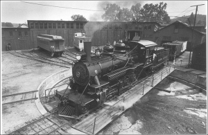 The Sierra No. 28 was acquired new in 1922, along with a new-to-them turntable. This photo depicts both acquisitions when they were new.