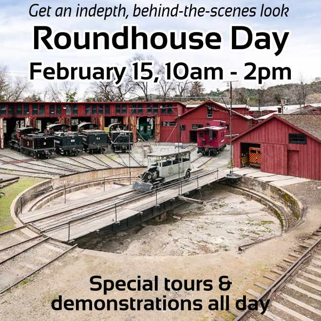This weekend for Roundhouse Day, Coach No. 6 will be pulled out of the Roundhouse for you to walk through and see up close and personal. We'll also have a special behind-the-scenes Shop Tour led by lead engineer George Sapp at 10am, and other special demonstrations on the forge and in the belt shop all day. Don't miss it!