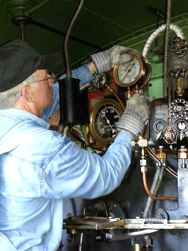 Step 1: Remove the Air Brake Gauge from the cab (hot!)