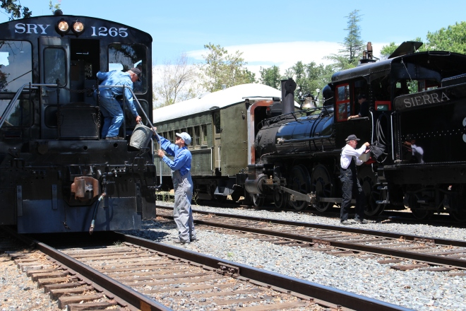 Final Step: Switch crews between locomotives