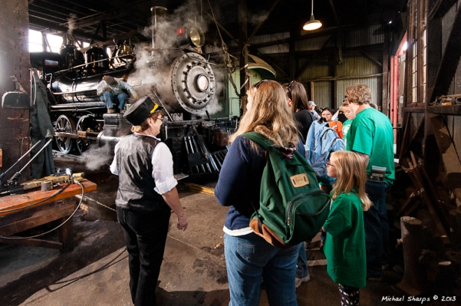 Get an up-close view of a steam engine in the Roundhouse