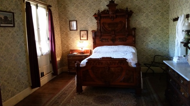Guest room in the City Hotel at Columbia State Historic Park
