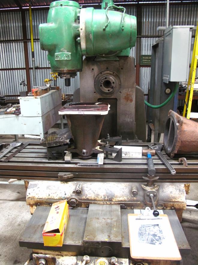 machining new nozzle
