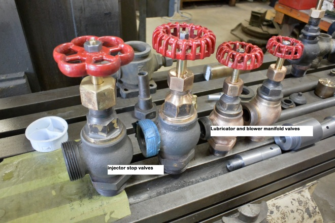 fig 11 valves lined up on machine